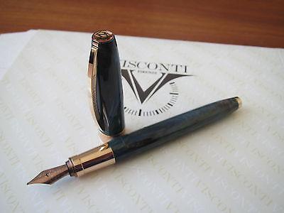 Visconti Van Gogh 125th Anniv Doctor Gachet rose Au-pl trim fount pen FINE MIB