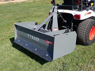 Titan 3104 48 Box Blade For Compact Tractors 3 Pt Hook Up 2 Shanks 15-45 Hp