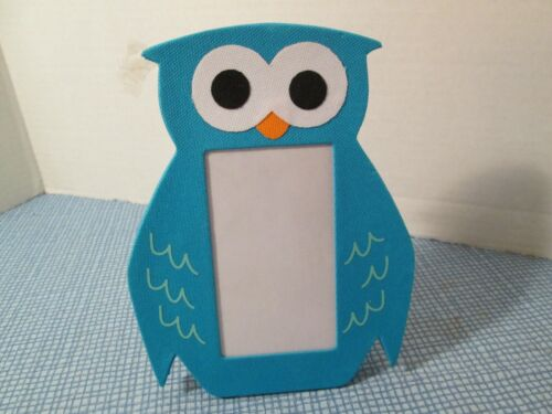 Blue Owl Shaped Photo Frame by Mud Pie, New