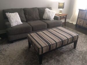 Sofa/Couch and matching ottoman