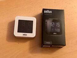 New Braun BNC008BK LCD Quartz Alarm Clock Travel Digital