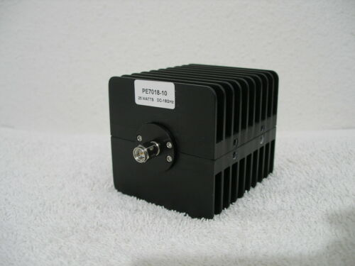 Pasternack PE7018-10 Fixed Attenuator - 10dB, 25W, SMA m/f up to 18GHz Heatsink