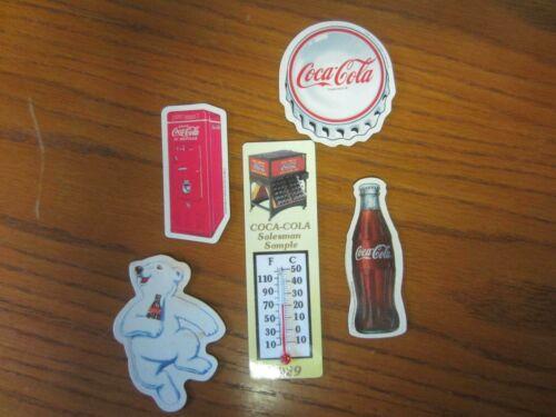 Vintage Lot of 5-Coca-Cola Magnets 1996