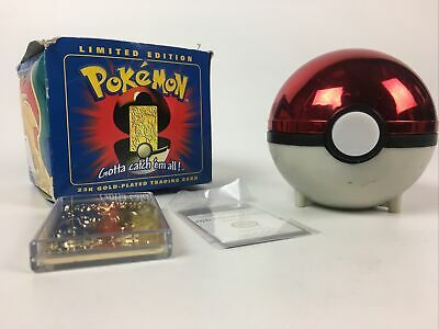 Pokemon Burger King 23k gold plated trading card charizard - Sealed In Blue Box