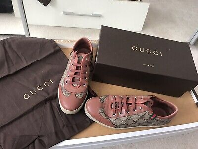 Gucci Trainers With Box + Dust Bag- Genuine Gucci GG Trainers UK Size 5 GC