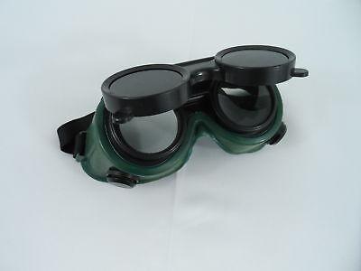 New Welding Cutting Welders Safety Goggles Glasses Flip Up Dark Green Lenses
