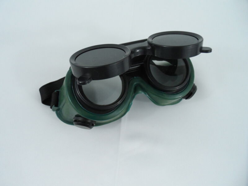 New Welding Cutting Welders Safety Goggles Glasses Flip Up Dark Green Lenses