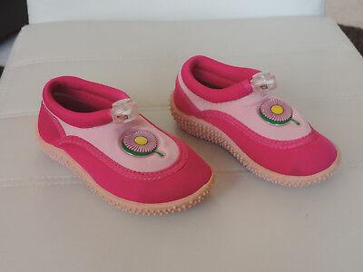 Badeschuhe für Kinder Gr. 24 Rot/Rose Strand-Schuhe mit rutschfester Sohle.