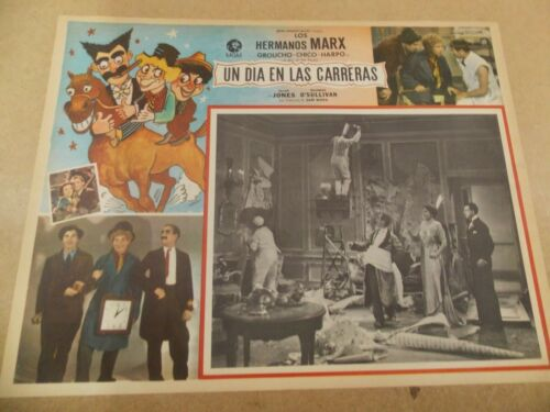 A DAY AT THE RACES(1937)MARX BROTHERS ORIGINAL MEXICAN LOBBY CARD
