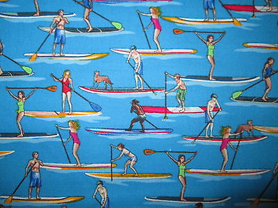 Paddle Board Paddleboard Water Sports Cotton Fabric FQ