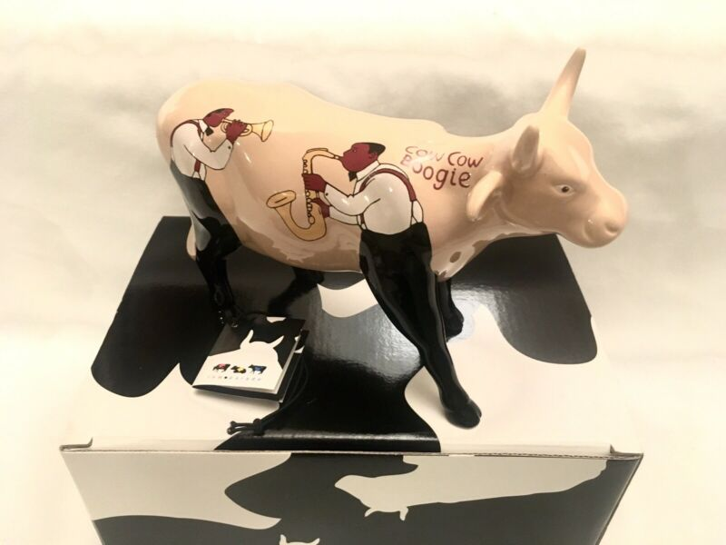 * VERY RARE * UK Cowboogie Cow Boogie #16116 Cows On Parade 2004 w/ Box + Tag