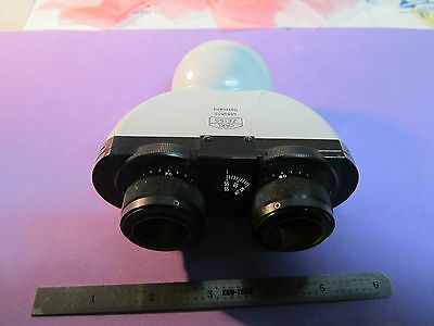 Microscope Carl Zeiss Germany Binocular Head Optics Bin22