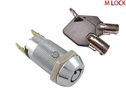 LOT OF 100 Electronic Key Switch Lock Off/On Lock Switch Keyed alike 2304-2