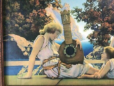 Original vintage Maxfield Parrish print The Lute Players 10 by 18