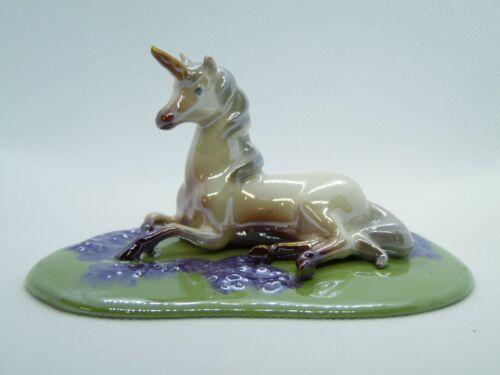 Hagen Renaker Unicorn Lying Base Figurine Miniature New 3040 Made in USA