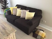 2 Brown material sofas, 3seater 2 seater excellent condition Whyalla Whyalla Area Preview