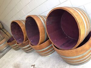 Half wine barrels for sale Thornleigh Hornsby Area Preview