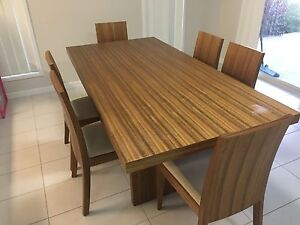 Dining table and chairs Bethania Logan Area Preview