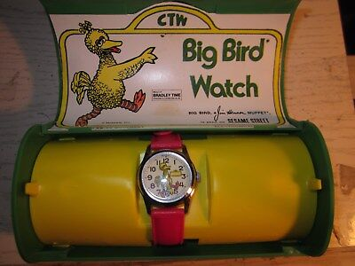 NOS Big Bird from Sesame Street Character Wind up Watch by Bradley Swiss Mvmt
