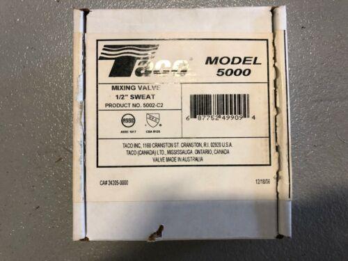 Taco mixing valve 1/2 sweat 5002-C2