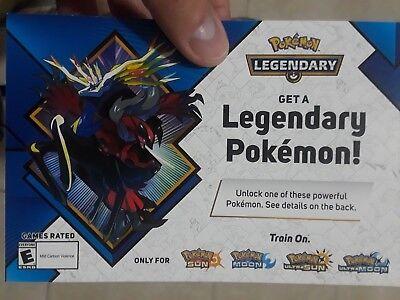 Pokemon Gamestop Legendary Pokemon code , Yveltal/Xerneas Ultra Sun/Ultra Moon
