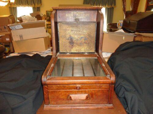 The McCaskey Credit Cash Register, Complete, Antique, Metal Glass & Wood