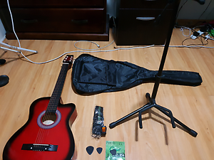 Acoustic Guitar with cover and stand.. hardly used Minchinbury Blacktown Area Preview