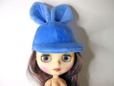 """DOLL HAT 5"""" BLUE CAP WITH BUNNY EARS CRISSY BLYTHE 14"""" MY TWINN CUDDLEY SISTER,"""