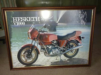 Hesketh V100 Motorcycle Framed Print (Red)