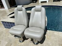 2021 Princess F70 FlyBridge Captain Helm Chairs (TWO 2X)