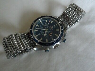 Original Steel Shark Mesh Bracelet for Omega Seamaster Speedmaster etc. 22 mm  , usado segunda mano  Embacar hacia Spain
