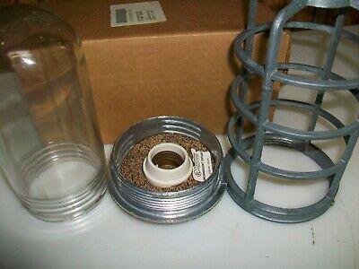 Vintage Caged Vapor Proof 100 W Lighting Fixture  Nsn 6210-00-500-4316