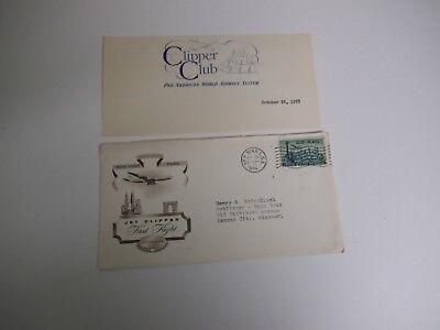 "Rare Pan Am, Jet Clipper ""America"", First Transatlantic Flight, NY - Paris, 1958"