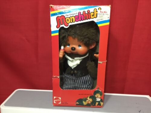 "Vintage SEKIGUCHI 1974 MONCHHICHI Monkey Boy Doll Original 8"" GROOM in box."