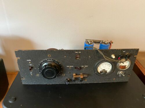 Vintage Rack Mount Variac AC DC Variable Power Supply Test Equipment 200-C