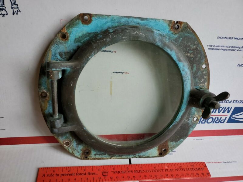 Antique Brass Ship Boat Porthole Old Estate Vtg Nautical Very Cool