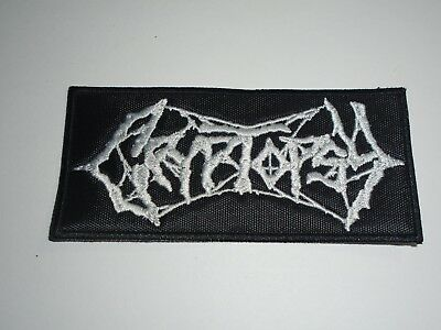 CRYPTOPSY BRUTAL DEATH METAL EMBROIDERED PATCH