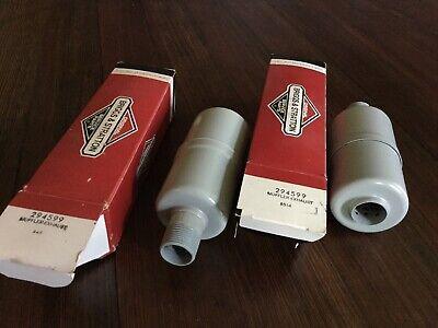2- Briggs Stratton Gas Engine Hot-dog Mufflers 294599 New Old Stock