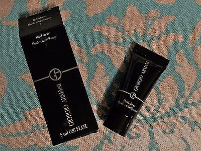 Giorgio Armani Beauty Fluid Sheer Shade 7 Travel Size 0.16oz/5ml