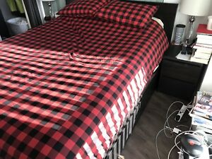 IKEA Malm Queen Bed with Storage Drawers/Nightstands