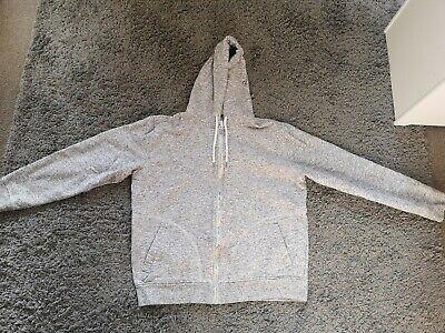 Burtons menswear- Grey zip up hoodie -Large