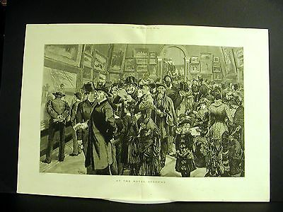(Great Britain ROYAL ACADEMY Art Museum VICTORIAN VISITORS Large Folio Engraving)