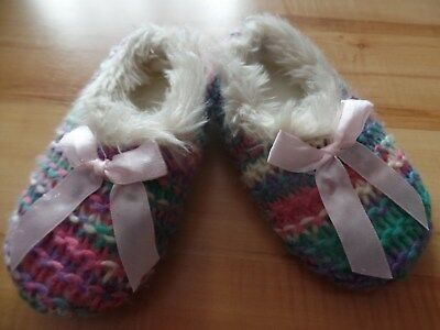 Neu Kinder Hausschuhe Pantoffel Gr. 23 25 Mädchen Kind Weihnachten