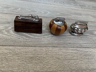Three Vintage Ronson table lighters