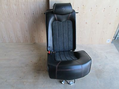 Maserati Quattroporte - LH / Rear Seat w/ Rails / Guides  - Black - Red Stitch