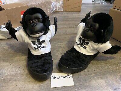 Adidas Jeremy Scott Gorilla Monkey Black Size 10 - VNDS Barely Used- (V24424) JS