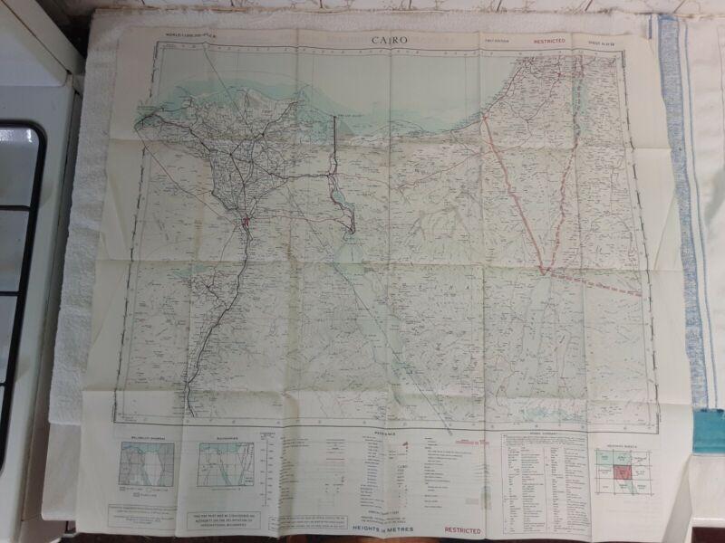 SAS LRDG RAF Special Forces Silk Escape Map WW2 Desert Cairo Alexandria Tobruch