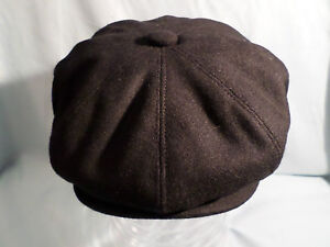 MENS-RETRO-VICTORIAN-EDWARDIAN-1920S-BLACK-NEWSBOY-BAKER-BOY-8-PANEL-HAT