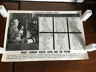 Illustrated Current News - Voice Record on Spectrograph LG Kersta Voiceprint