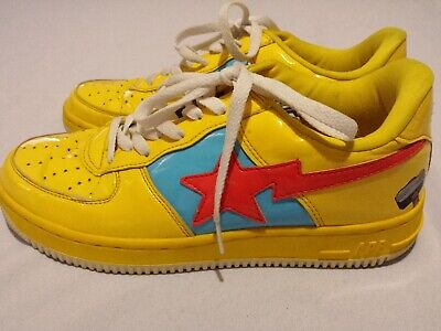 Thor Bapesta Bape Footsoldier Shoes Yellow Marvel Comic A Bathing Ape Size 10